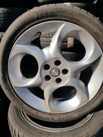 Alfa Romeo 156 alloy wheels rim with tyre 225/45/ 17 inch