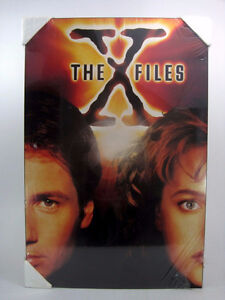 """Vintage 90s X-Files Poster Board Boarded Back Large 34"""" x 23"""""""