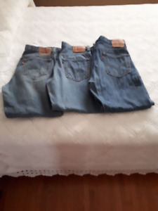 3 Pairs of Mens Levi Jeans