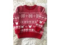 Next - boys Christmas jumper 3-4 yrs