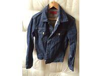 Men's blue FCUK denim jacket, size small