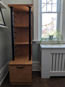 Wooden bookcase/filing cabinet