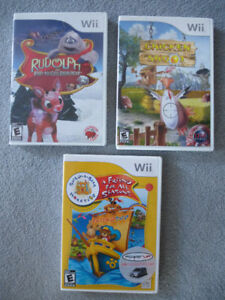3 Wii Games - excellent condition