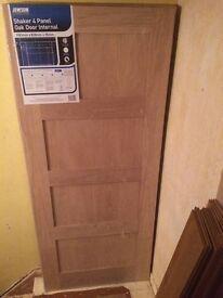 SHAKER OAK INTERNAL DOORS
