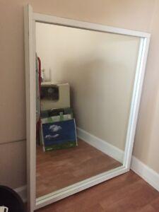 White Framed Mirror-Size 4ft x 3ft