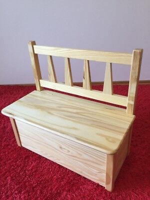 Massivholz Spielzeugkiste Truhe (Kindersitztruhe Kindersitzbank Kinder Sitzbank  Spielzeugkiste Massivholz )