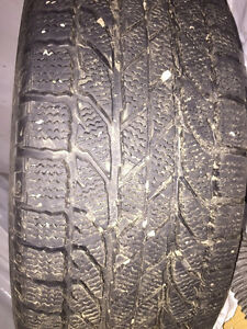 Great Winter tires on rims - fits any 5 lug vehicle.