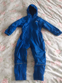 Peter Storm Fleece lined puddle suit 2-3yrs