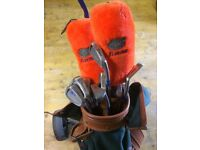Starter set of Golf clubs, carry bag and lightweight trolley