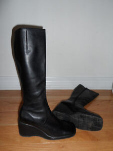 Leather,good quality knee boots,new