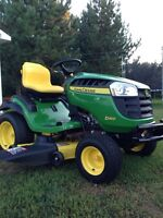 John deer jarden tractor 25hp with snowblower and full cab