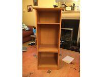 Bookcase oak veneer finish