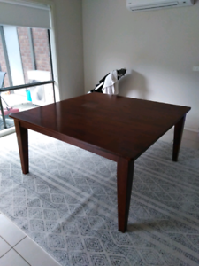 8 seater square wooden dining table
