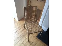 2 rattan dinning chairs