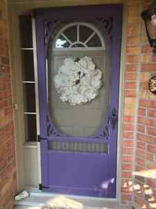 Screen solid wood door Kitchener / Waterloo Kitchener Area image 1