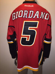 NEW Calgary Flames Reebok Jersey - Autographed by Mark Giordano