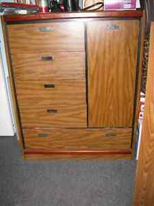 OFFICE CABINET SIDE CUPBOARD WITH SHELVES PLUS 5 DRAWER