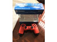 OFFICIAL RED WIRELESS PS4 CONTROLLER LIKE BRAND NEW BOXED...