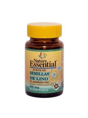 ACEITE DE SEMILLA DE LINO 500 MG. 50 PERLAS - NATURE ESSENTIAL