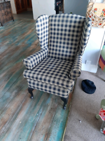 Wing back chairs varying condition to shabby chic or reupholster