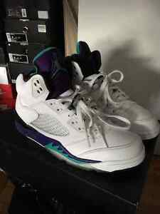 Air Jordan Retro 5 Grapes size 7.5