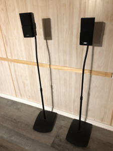 Bose double cube speakers with stands.