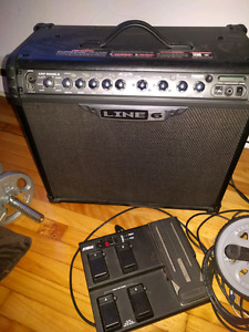 Line 6 Spider IV 75w amp with pedal