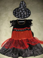 """ RUBIES "" WITCH & HAT COSTUME"