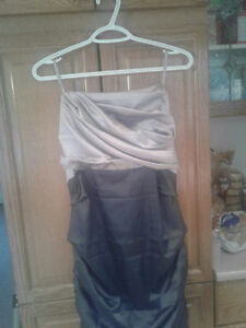 Beautiful silver and grey dress from le chateau