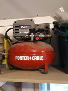 Porter Cable pancake compressor and hose