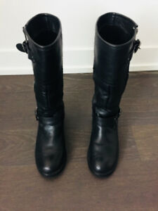 ALDO Black Real Leather Boots $50