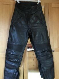 Ladies leather bike trousers size 12