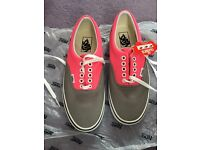 Two tone pink & grey vans trainers