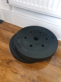 2 x 10kg weight plates