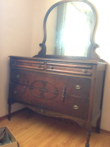 Antique beauty dresser with mirror