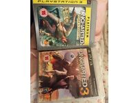 Uncharted 1 and 3 for sale for PS3