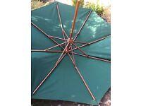 Garden parasol umbrella, dark green