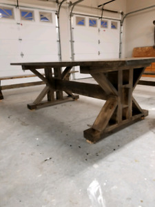 X STYLE HARVEST DINING TABLE RUSTIC DESIGN