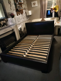 Faux leather double bed feel free to contact me