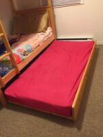 Trendal bed with twin mattress