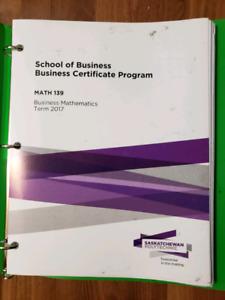 Saskpolytech Business certificate Winter Semester book