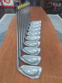 (1) ONE INCH LONGER SHAFTS FOR TALLER GOLFERS ping isi-k irons 3-SW.