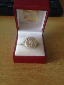 Custom Made Manchester United Silver Ring