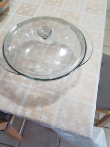 glass round  oven safe bowl