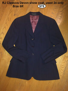 Misc. items: show jacket, half chaps, bit - PRICED TO SELL
