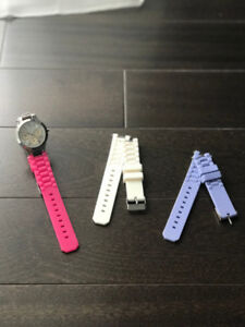 Jewellery set and watch (with changeable straps)
