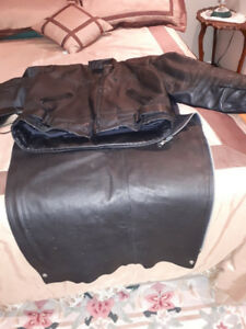 Motorcycle Jacket and Chaps.