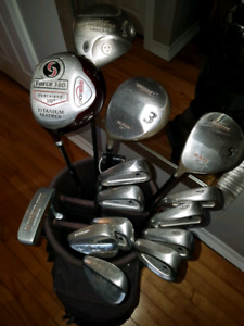Left handed DCI Titleist irons with driver and wedges