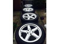 """£240 ONO - 17"""" BMW, AC SCHNITZER alloy with very good tyres"""