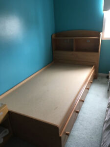 Two Bed Frames with Headboard (Twin Size)